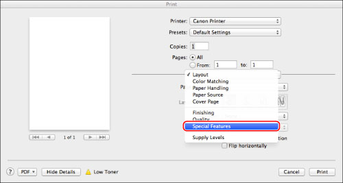 Setting the Department ID Management on the Printer Driver - Canon