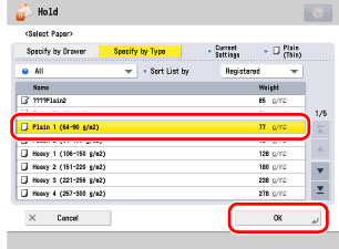 Pausing Print Jobs to Change Settings (Hold) - Canon