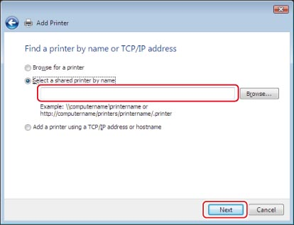 Printer Connection Method (IPP/IPPS) - Canon - imageRUNNER