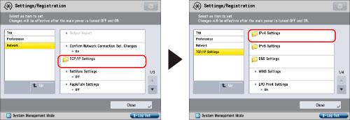 TCP/IPv4 Settings - Canon - imageRUNNER ADVANCE 4251i 4245i