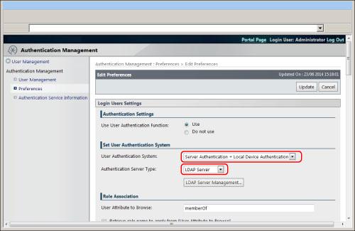Registering/Editing LDAP Server Information - Canon