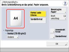 papiertyp im computer ändern