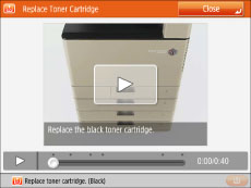 Replacing the Toner Cartridge - Canon - imageRUNNER ADVANCE