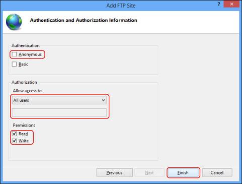 FTP Server Settings - Canon - imagePRESS C850 / C750 / C650